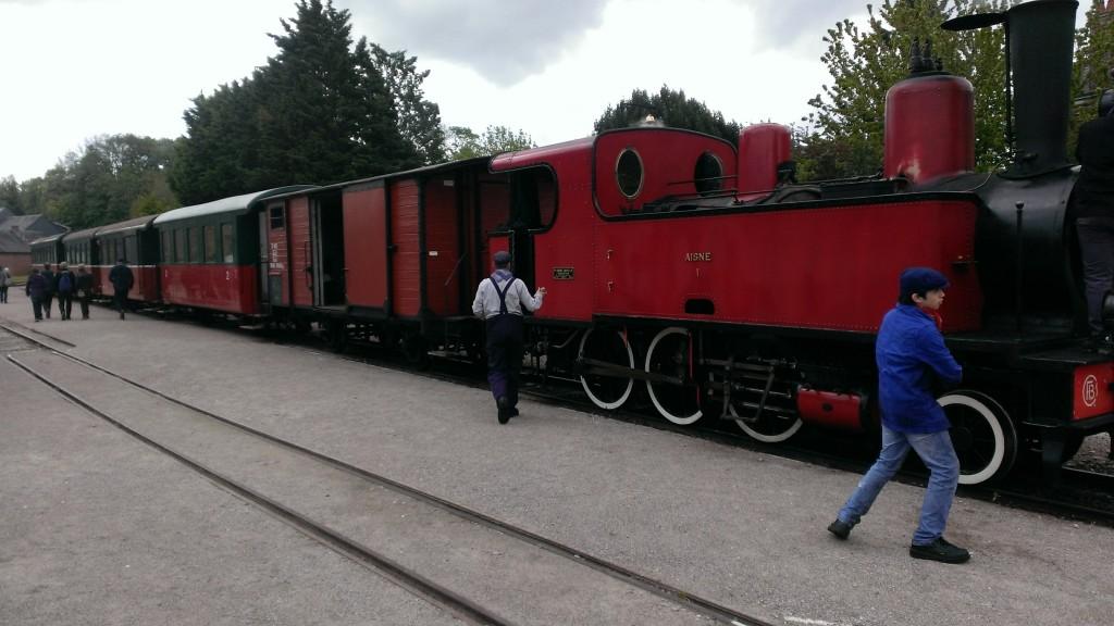 Magnifique locomotive du train vapeur de la baie de Somme